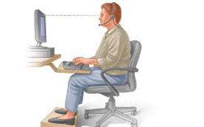 Best postures in front of your computer screen