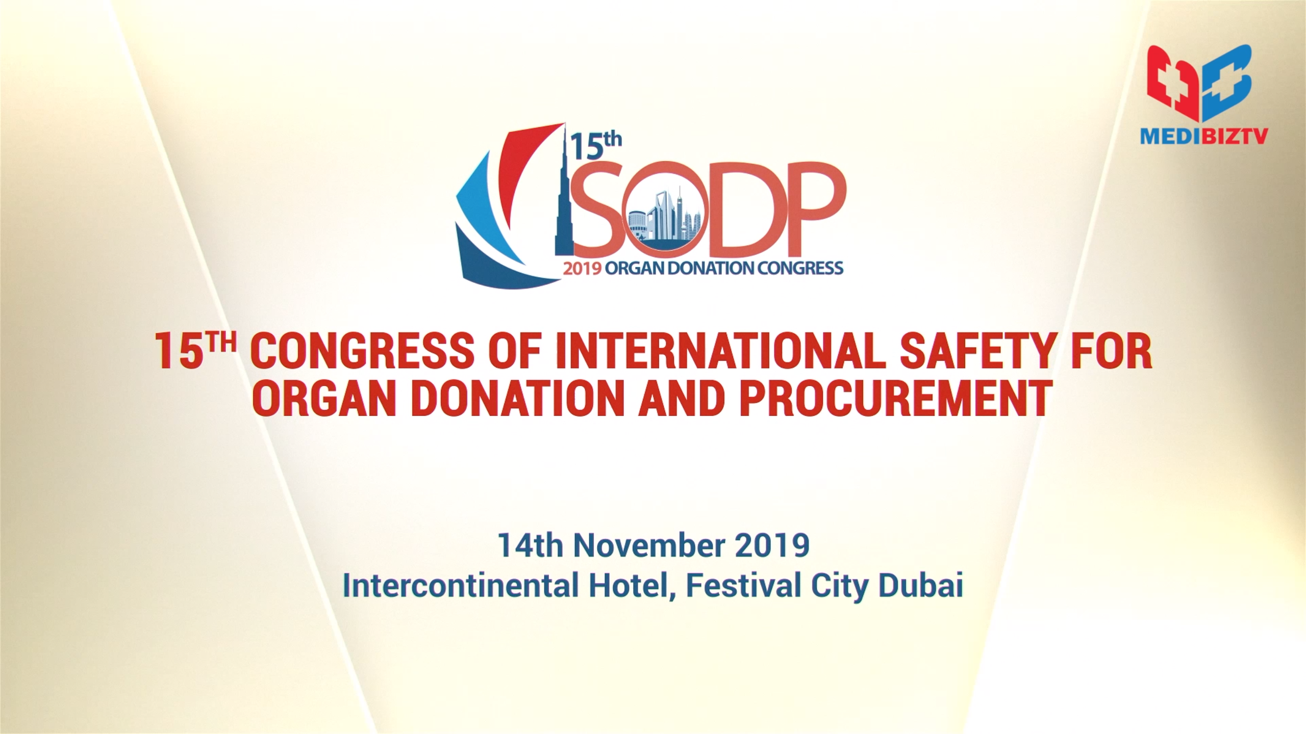 15th Congress of International Safety for Organ Donation and Procurement